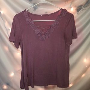 Mauve Tee with Details
